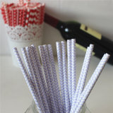Chevron em Purple Color 100% Eco-Friendly Paper Straw
