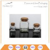 Ясный стеклянный опарник с пробочкой для шафрана