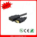 Or Plated 1.4V HDMI Male à HDMI Female Panel Mount HDMI Cable