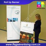 A tela feita sob encomenda por atacado do anúncio ao ar livre da fábrica rola acima a bandeira