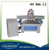 De T do entalhe da tabela do CNC máquina 1325 de gravura para a madeira, acrílico, metal, pedra