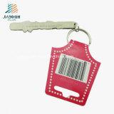 革が付いている昇進のギフトのエナメルの赤いカラーカスタム文字Keychain