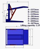системы стоянкы автомобилей столба 2.7t 2 подъем стоянкы автомобилей автомобиля франтовской автоматический опрокидывая