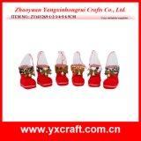 Zapato de la Navidad de la tela del terciopelo de Pleuche de la decoración de la Navidad (ZY14Y149-1-2)