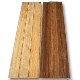 Laque UV carbonisée de plancher en bambou solide horizontal lisse