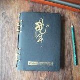 Zapfen-Leder/recht Notizbücher/nachfüllbarer lederner Zapfen