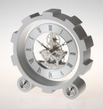 Wheel Design Frame Table Clock