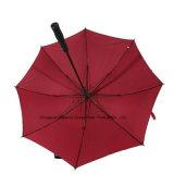 Parapluie extérieur protégeant du vent de golf de couche duelle grand avec 8 côtes