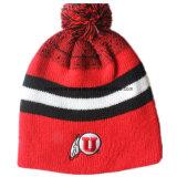 顧客用アクリルのウールの昇進のロゴはカスタマイズされたニットのてきぱきとしている帽子を刺繍した