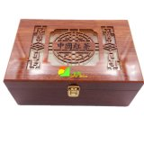 Классицистическая красная деревянная люкс коробка подарка упаковки