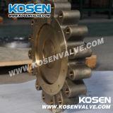 Metal de bronze válvula de borboleta assentada (tipo do talão)