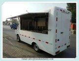 Camion mobile d'essence de nourriture de maïs éclaté de réchauffeur de nourriture