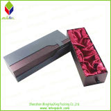 Коробка вина роскошного скольжения открытая бумажная упаковывая с шелком вставки
