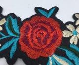 Laço do bordado da correção de programa da flor da forma para o vestuário