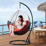Coffee Garden Furniture Rattan Egg Swing Chair (D011B)