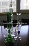 Piep vert de percolateur en verre de Pyrex, conduite d'eau
