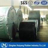 Bande de conveyeur en caoutchouc renforcée par tissu de coût bas