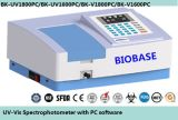 PC Software를 가진 UV Spectrophotometer/Visible Spectrophotometer