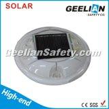 Borne solaire r3fléchissante en plastique de route de DEL clignotant pour la sécurité routière
