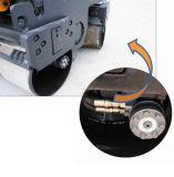 Caminata doble de torneado hidráulica del tambor detrás del rodillo de camino del rodillo (interruptores)