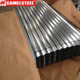Tetto d'acciaio ondulato galvanizzato SGCC di Dx51d