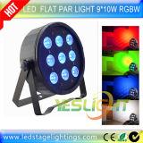 DMX512는 LED 단계 빛 9PCS*10W RGBW 4in1 LEDs 무선 선택을 체중을 줄인다