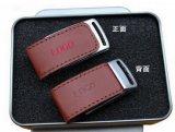 azionamento di cuoio del USB del regalo dell'azionamento della penna del bastone del USB 2.0 dell'azionamento dell'istantaneo del USB 64MB-128GB