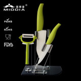 Cocina Tools Ceramic Knife Set con Holder y Nonslip Handle