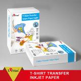 Papier lustré élevé de vente chaud foncé en gros de photo d'impression de T-shirt de papier de transfert de sublimation d'A4 Rolls