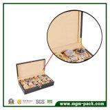 Rectángulo de reloj multi laqueado del almacenaje de madera para 12 relojes
