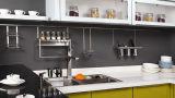 Gabinete de cozinha UV do lustro elevado moderno (UV-001)