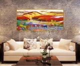 Изготовление сразу предлагает самую дешевую картину маслом ландшафта, картину искусствоа, картину украшения