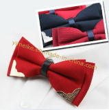 New Fashion Gentle Wedding Groom Metal Stud Bowtie Gift