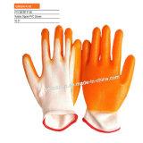 Хлопка T/C латекса Crinkle K-49 перчатки Coated работая