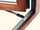 Guichet en aluminium de tissu pour rideaux de ceintures de double de profil d'interruption thermique colorée en bois avec le blocage multi Kz144