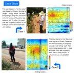 Alto rivelatore di tracciato automatico sensibile dell'acqua sotterranea dello strumento in profondità 150m di misura