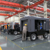 Compresor de aire movible del tornillo del motor diesel de la barra del tirón del camino