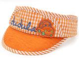 Bordado de calidad superior y casquillo divertido Appliqued de los deportes del casquillo del visera de Sun de los cabritos de la insignia para los niños