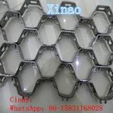 Rede Hex material Ss 304 Ss 410 do escudo do metal da abrasão