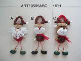 Tirador casero del reno del muñeco de nieve de Santa de la decoración de la Navidad