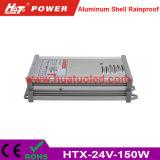 bloc d'alimentation antipluie de l'interpréteur de commandes interactif en aluminium continuel DEL de la tension 24V-150W