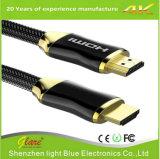 Cable plano plateado oro de 2.0V HDMI