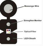 Cabo pendente interno da fibra para a telecomunicação e a expedição de cabogramas vertical