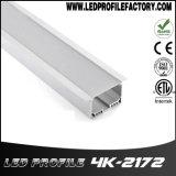 cubierta de aluminio ahuecada 4K-1272 del canal del perfil del LED