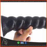 donne gaie degli uomini del prodotto del sesso dell'ano del Pussy del Dildo 10inch di 25.4cm del silicone della spina del grande del pene di estremità del branello giocattolo anale anale lungo del sesso