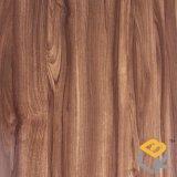 Walnuss-hölzernes Korn-dekoratives Druckpapier für Fußboden von China