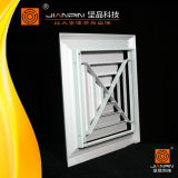 Diffuseur carré en aluminium d'air de plafond de vente chaude avec l'amortisseur de guindineau