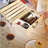 Handgemachter natürlicher Flaschen-Arbeitsweg-Wein-Kasten des Kiefernholz-2