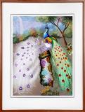 귀여운 동물의 장식적인 벽화
