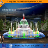 Wooden Package Music Fountain LED Light Decorative
